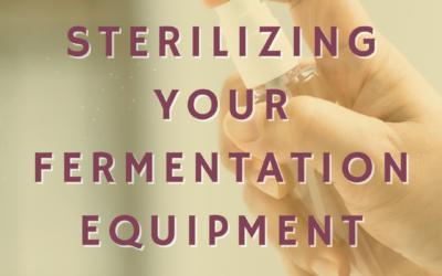 Sterilizing Your Fermentation Bucket